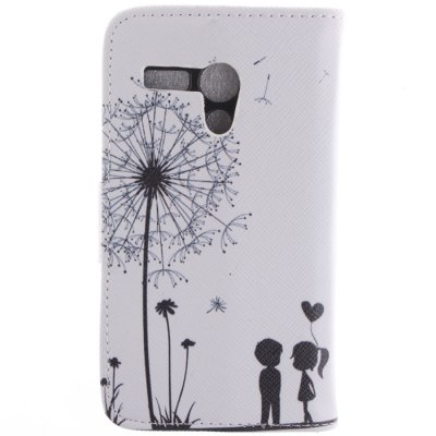 Гаджет   Soft Dandelion Flip PU Leather Cover Case with Stand for Motorola Moto G Other Cases/Covers