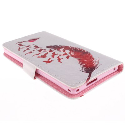 Гаджет   Red Feather Design PU Full Body Cover Case with Stand for Sony Xperia M2 Other Cases/Covers