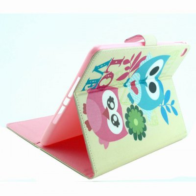 ФОТО PU Material Protective Cover Case with Owl Pattern for iPad Air 2