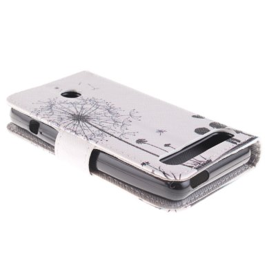 Гаджет   Romantic Dandelion Pattern PU Full Body Case with Stand Card Holder for Sony Xperia E1 Other Cases/Covers