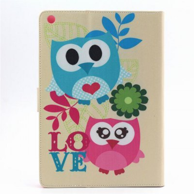ФОТО PU Material Protective Cover Case with Owl Pattern for iPad Air