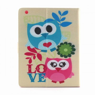 ФОТО PU Material Protective Cover Case with Owl Pattern for iPad 2 / 3 / 4