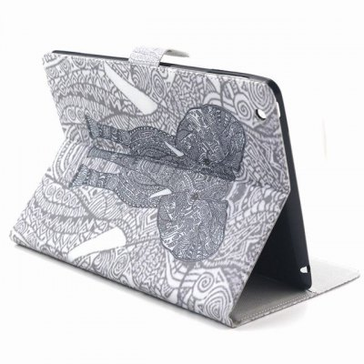 ФОТО PU Material Protective Cover Case with Elephant Pattern for iPad 2 / 3 / 4