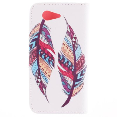 Flip PU Cover Case with Two Feathers Pattern and Stand Function for Sony Xperia Z3 Mini