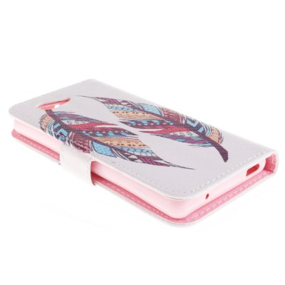 Фотография Flip PU Cover Case with Two Feathers Pattern and Stand Function for Sony Xperia Z3 Mini