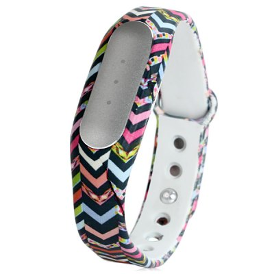 Гаджет   TPU Band Colorful Wave-like Pattern Watch Strap for Xiaomi Miband Smart Watches