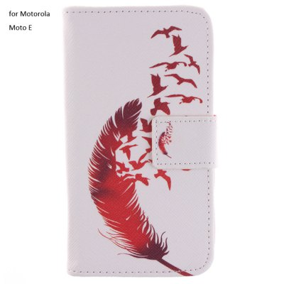 Фотография Red Feather Design PU Full Body Cover Case with Stand for Motorola Moto E
