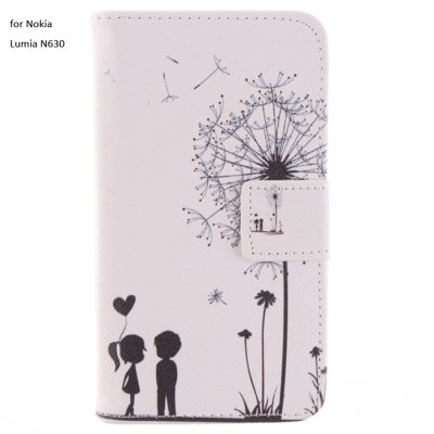Фотография Dandelion Love Story PU Flip Cover Case with Stand Card Holder for Nokia Lumia N630