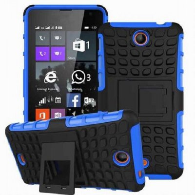 Гаджет   Contrast Color Tire Style PC and TPU Back Cover Case with Removable Stand for Microsoft Lumia 430 Other Cases/Covers