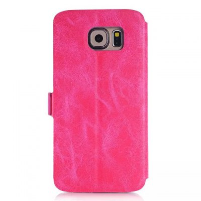 Гаджет   Crazy Horse Solid Style PU Cover Case with View Window Stand for Samsung GALAXY S6 Samsung Cases/Covers