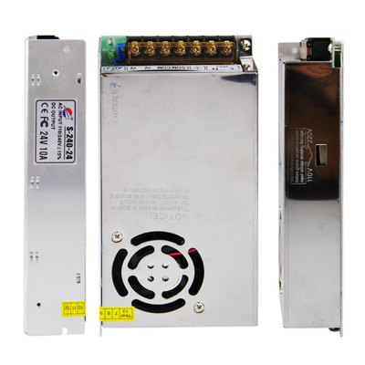 Гаджет   S-240-24 240W 24V / 10A Output Switch Power Supply Driver for LED Light and Surveillance Security Camera ( 110/220V ) Power