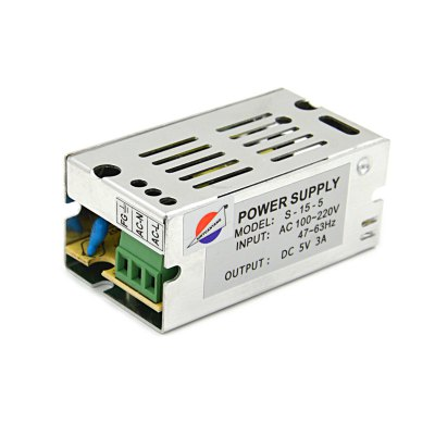S-15-5 15W 5V / 3A Switch Power Supply Driver for LED Light and Surveillance Security Camera ( 110  -  220V )