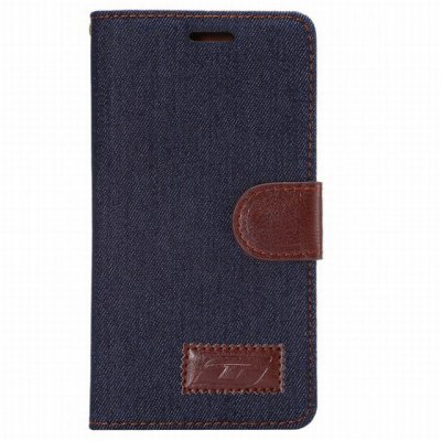 Гаджет   Vintage Style Jeans and PU Leather Flip Cover Case with Stand for Huawei P8 Other Cases/Covers