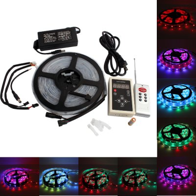 150 x 5050 SMD Waterproof Symphony Remote Conrtoller Horse Race LED Strip Light with AC Adapter Set