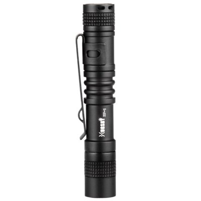 Hugsby XP - 1 XPE R3 100Lm Water-resistant Ultra Mini AAA LED FlashlightLED Flashlights<br>Hugsby XP - 1 XPE R3 100Lm Water-resistant Ultra Mini AAA LED Flashlight<br><br>Brand: Hugsby<br>Model: XP - 1<br>Lamp Beads: Other<br>Beads Number: 1<br>Lumens Range: 1-200Lumens<br>Luminous Flux: 100Lm<br>Switch Type: Clicky<br>Switch Location: Tail Cap<br>Feature: Lightweight,Pocket Clip<br>Function: Camping,EDC,Exploring,Hiking,Household Use,Night Riding,Walking<br>Battery Type: AAA<br>Battery Quantity: 1 x AAA battery (not included)<br>Mode: 1 (ON/OFF)<br>Waterproof Standard: IPX-6 Standard Waterproof<br>Power Source: Battery<br>Working Voltage: 0.8 - 1.5V<br>Reflector: Aluminum Textured Orange Peel Reflector<br>Lens: Glass Lens<br>Impact Resistance: 1.5M<br>Beam Distance: 0-50m<br>Body Material: Aerospace-grade Aluminum Alloy<br>Available Light Color: White<br>Available color: Black<br>Max.: 1 hrs<br>Product weight: 0.021 kg<br>Package weight: 0.080 kg<br>Product size (L x W x H): 9.00 x 1.50 x 1.50 cm / 3.54 x 0.59 x 0.59 inches<br>Package size (L x W x H): 12.00 x 3.00 x 3.00 cm / 4.72 x 1.18 x 1.18 inches<br>Package Contents: 1 x Hugsby XP-1 Mini AAA Flashlight