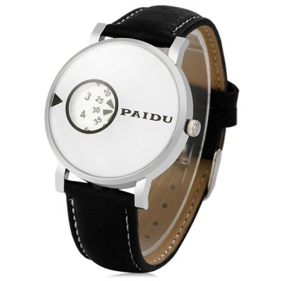 Paidu 58967 Japan Movt Male Quartz Watch Rotational Scale Leather Strap WristwatchMens Watches<br>Paidu 58967 Japan Movt Male Quartz Watch Rotational Scale Leather Strap Wristwatch<br><br>Brand: Paidu<br>Watches categories: Male table<br>Watch style: Fashion<br>Available color: Black, White<br>Movement type: Quartz watch<br>Shape of the dial: Round<br>Display type: Analog<br>Case material: Stainless steel<br>Band material: Leather<br>Clasp type: Pin buckle<br>The dial thickness: 0.7 cm / 0.28 inches<br>The dial diameter: 4.0 cm / 1.57 inches<br>The band width: 1.8 cm / 0.71 inches<br>Product weight: 0.036 kg<br>Package weight: 0.086 kg<br>Product size (L x W x H): 24.9 x 4 x 0.7 cm / 9.79 x 1.57 x 0.28 inches<br>Package size (L x W x H): 25.9 x 5 x 1.7 cm / 10.18 x 1.97 x 0.67 inches<br>Package Contents: 1 x Paidu 58967 Watch