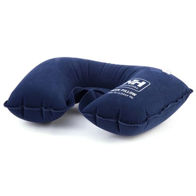 NautreHike Inflatable U Style Soft Air Inflation Neck Pillow for Camping Car Driving