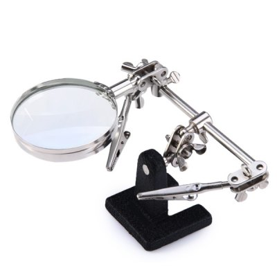 WLXY JM - 501 Multi-functional Welding Magnifying Glass Soldering Iron Stand Holder Table Magnifier