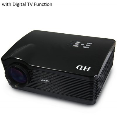 UhAPPy U-1 LCD Projector 3000LM 1280 x 768 Pixels IR Remote Control Keystone Correction with Digital TV Function Support 1080P