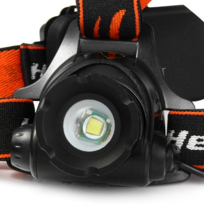 XQ51 Cree XM - L T6 1200LM 3 Modes 18650 / AAA Zoomable Rechargeable LED Headlight