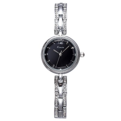 Kimio Japan Quartz Bracelet Ladies Diamond Chain Watch with Alloy BandWomens Watches<br>Kimio Japan Quartz Bracelet Ladies Diamond Chain Watch with Alloy Band<br><br>Brand: Kimio<br>Watches categories: Female table<br>Available color: Black, White, Rose Gold<br>Style : Bracelet, Diamond, Fashion&amp;Casual<br>Movement type: Quartz watch<br>Shape of the dial: Round<br>Display type: Analog<br>Case material: Alloy<br>Band material: Alloys<br>Clasp type: Sheet folding clasp<br>The dial thickness: 0.9 cm / 0.35 inches<br>The dial diameter: 2.5 cm / 1.10 inches<br>The band width: 0.8 cm / 0.31 inches<br>Product weight: 0.036 kg<br>Package weight: 0.086 kg<br>Product size (L x W x H) : 21 x 2.5 x 0.9 cm / 8.25 x 0.98 x 0.35 inches<br>Package size (L x W x H): 22 x 3.5 x 1.9 cm / 8.65 x 1.38 x 0.75 inches<br>Package contents: 1 x Kimio Watch
