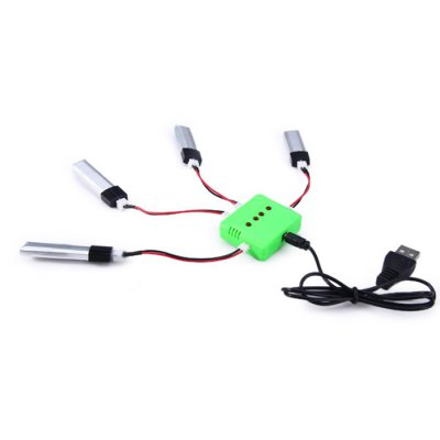 X4 - 011 RC Helicopter Parts Set 200mAh 3.7V Battery + USB Cable + Charger