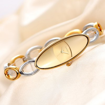 Гаджет   Weiqin Japan Quartz Bracelet Ladies Chain Watch with Hollow Out Alloy Band Oval Dial Women