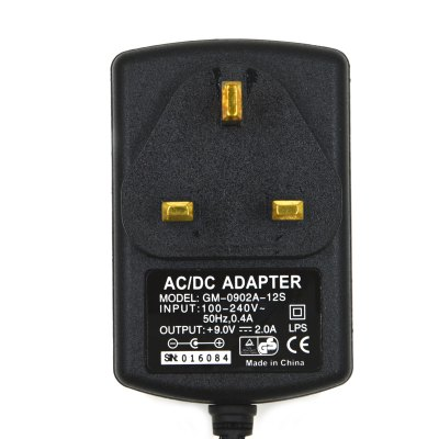 GM-0920A-12S 18W 9V / 2A UK Plug Professional Power Adapter for CCTV Security Camera ( 5.5 x 2.1mm / 100 - 240V )