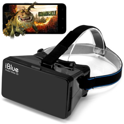 iBlue Headset Virtual Reality 3D Video Glasses for 3.5 - 6 Inch Smartphones