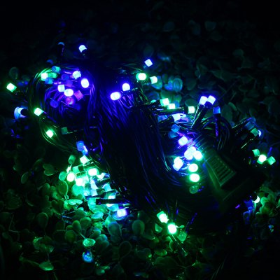 Set of 20m Colorful 200 LEDs Outdoor String Light Frosted Romantic Holiday Lamps ( Green Wire )