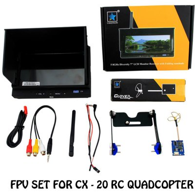 FPV Set for Cheerson CX - 20 RC Quadcopter 7inch LCD Monitor 5.8GHz 200MW 32CH AV Receiver and Launcher
