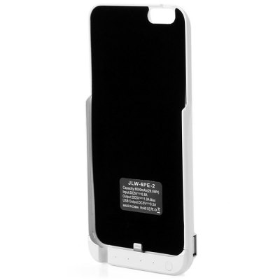 8000mAh Power Bank Back Cover Case Backup Charger with Stand Function USB PortPower Banks<br>8000mAh Power Bank Back Cover Case Backup Charger with Stand Function USB Port<br><br>Type: Battery Case<br>Compatibility : iPhone 6 Plus<br>Material   : PC, ABS<br>Cell type : Li-Polymer Battery<br>Capacity (mAh): 8000mAh<br>Special Functions: Battery Cases For iPhone, Super Slim, Includes Stand<br>Connection Type: USB 2.0, 8 pin<br>Input  : DC 5V 0.8A<br>Output   : DC 5V 1A<br>Available Color  : Gold, White, Black<br>Product weight: 0.181 kg<br>Package weight: 0.350 kg<br>Product size (L x W x H): 16.8 x 8 x 1.7 cm / 6.60 x 3.14 x 0.67 inches<br>Package size (L x W x H): 19 x 12 x 3 cm / 7.47 x 4.72 x 1.18 inches<br>Package Contents: 1 x Power Bank Battery Case, 1 x English and Chinese User Manual