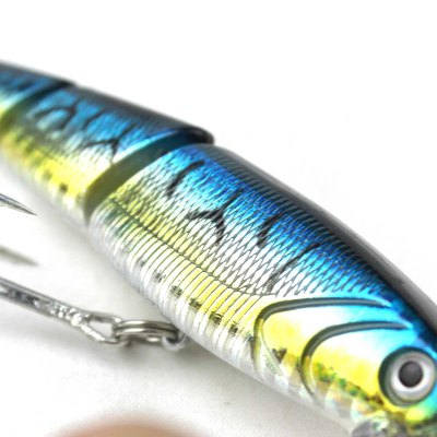 3 Sections Vibration Lure 3D Hard Fishing Bait