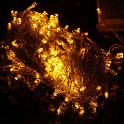 20 Meters 200 LEDs Yellow Fairy String Light for Outdoor Festival Party Decoration ( EU Plug )