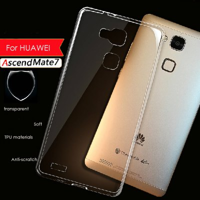 TPU Material Ultrathin Transparent Phone Back Cover Case for Huawei Mate 7