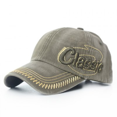 Stylish Letter Embroidery and Sewing Thread Embellished Visor For Men
