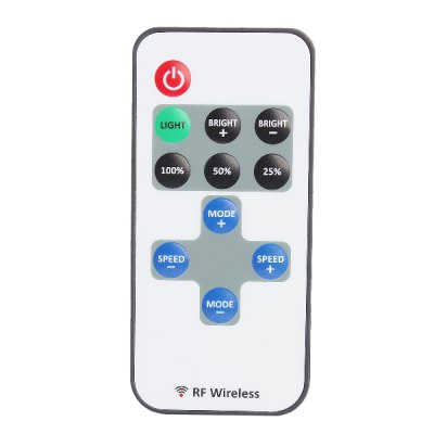 1 - Channel Mini LED RF Wireless Remote Control for Single Color Strip LED Light