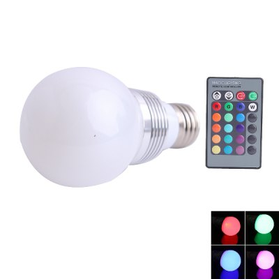 E27 Q4 RGB Colorful Remote Control Light Bulb