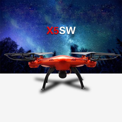 Гаджет   Syma X5SW Explorers 2 2.4GHz 4 Channel WiFi FPV RC Quadcopter with 0.3MP HD Camera 6 Axis 3D Flip Flight UFO RTF RC Quadcopters