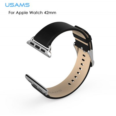USAMS Buckle Genuine Leather Watchband for Apple Watch 42mm