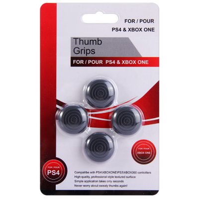 Фотография 4Pcs Analog Controller Silicone Thumb Stick Grips Cap Cover for PS4 PS3 Xbox 360 Xbox One Controller