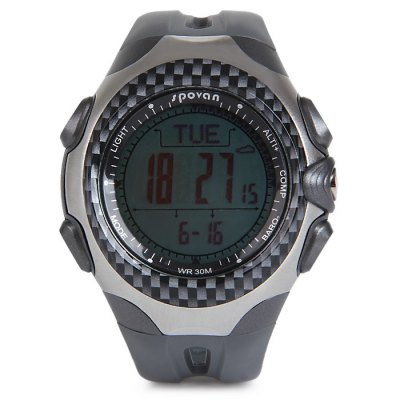 ФОТО Spovan Mingo 1A Water Resistance Outdoors Sports LED Watch with Altimeter Barometer Compass Pacer Temperature Function