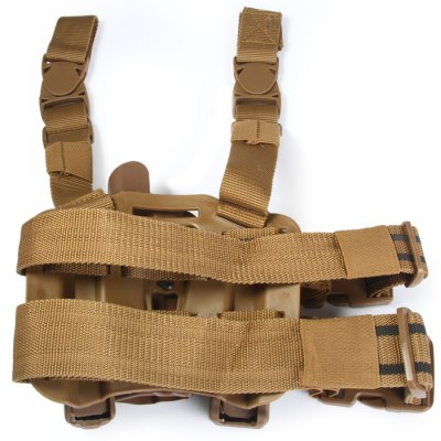 Фотография Extended Edition Right Hand Tactical Leg Mounted Nylon Strap + Plastic Holder P226 Gun Holster