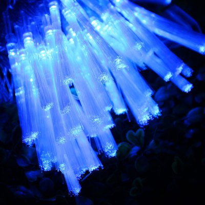 100 LED 10m Blue Light Fiber Optic String Light EU Plug