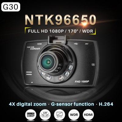 Dome G30 2.7 inch LCD 1080P Full HD DVR 170 Degree Wide Angle Lens