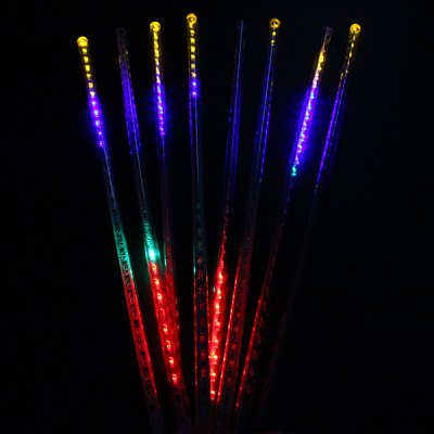 0.5M 8 Tubes RGB Meteor Shower Rain String Light Tree Party for Christmas New Year Wedding Outdoor Garden ( EU Plug )