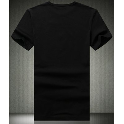 Гаджет   Fashion Slimming Plus Size Round Neck Abstract Death Pattern Short Sleeves Men