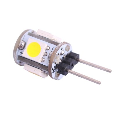 G4 0.5W SMD - 5050 5 LEDs 6000K 45LM White Light Crystal LED Bulb ( DC