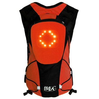 Bikeman YKBB 5L Wireless Control Light-up Warning Cycling BackpackBike Bags<br>Bikeman YKBB 5L Wireless Control Light-up Warning Cycling Backpack<br><br>Type: Backpack<br>For: Hiking, Camping, Travel, Cycling<br>Material: Polyester, Nylon<br>Color: Orange, Green<br>Product weight   : 0.365 kg<br>Package weight   : 0.420 kg<br>Product size (L x W x H)   : 37.0 x 22.0 x 7.5 cm / 14.54 x 8.65 x 2.95 inches<br>Package size (L x W x H)  : 39.0 x 24.0 x 9.0 cm / 15.33 x 9.43 x 3.54 inches<br>Package Contents: 1 x Backpack, 1 x Remote Controller, 1 x Charger, 1 x USB Cable, 1 x English User Manual
