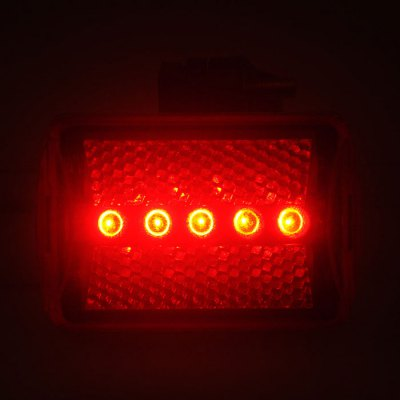 Bike Cycling Equipment Bicycle Riding 5 LED Night Rear Light